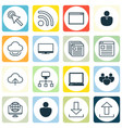 set of 16 online connection icons includes send vector image vector image
