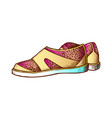 shoes for aqua sport and diving color vector image