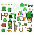 st patrick day ireland holiday symbols vector image vector image