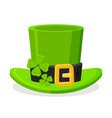 st patricks day green leprechaun hat decorated vector image