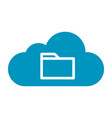 thin line cloud file icon vector image vector image