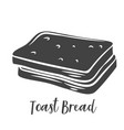 toast bread slices glyph vector image vector image