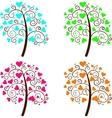 valentine tree love vector image