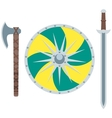 Viking weapon flat vector image
