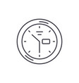 wall clock line icon concept wall clock vector image