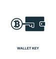 wallet key icon creative element design from vector image vector image