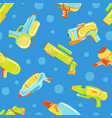 water gun seamless pattern entertainment objects vector image vector image