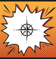 wind rose sign comics style icon on pop vector image