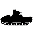 World war two tank silhouette