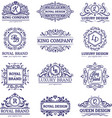 luxury labels monochrome set vector image