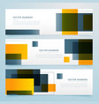 abstract geometric banner design collection vector image vector image