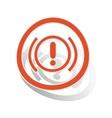 Alert sign sticker orange vector image vector image