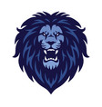 angry lion logo sports mascot vector image