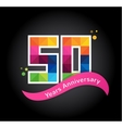 anniversary - abstract colorful icons and elements vector image vector image