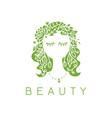 beauty salon spa logo female face vector image vector image