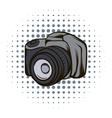 Black camera comics icon vector image vector image