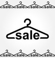 black clothes hanger icon on white background vector image vector image