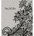 Black lace design vector image vector image