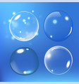 bubbles under water on blue vector image vector image
