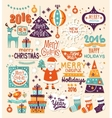 Christmas Set of Labels Emblems and Decorative vector image