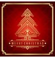 Christmas tree art deco style vector image vector image
