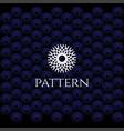 circle elegant luxury flower line pattern logo vector image vector image