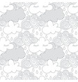 clouds in the sky scandinavian seamless vector image vector image