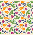 colorful sketch mexican symbols seamless pattern vector image vector image