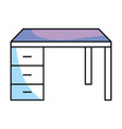 desk isolated icon vector image vector image
