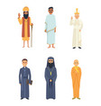different religion leaders cartoon characters vector image