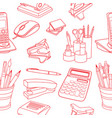 doodle style seamless vector image