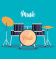 drums battery instrument icon vector image