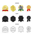 emblem and badge sign set vector image