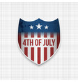 fouth of july realistic banner vector image vector image