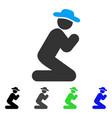 Gentleman pray flat icon