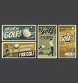 golf club professional golfer sport vector image vector image