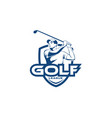golf man league team logo template vector image vector image