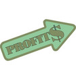 growing arrow profit chart eps10 vector image vector image