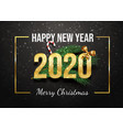 happy new year greeting card template postcard vector image vector image