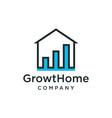 home growth icon logo design inspiration vector image vector image