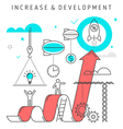 increase development concept vector image vector image