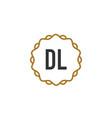 initial letter dl elegance creative logo vector image vector image