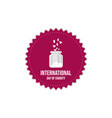 international day charity badge banner and vector image vector image