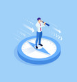 isometric successful businessman standing vector image