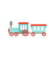 kids cute cartoon toy passenger train colorful vector image vector image