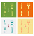 kitchen set icon in vintage hand drawn style vector image vector image