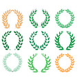 laurel wreath reward set vector image