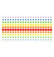 life star shape halftone spectral grid vector image vector image
