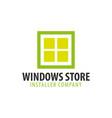 logo windows store installer company vector image vector image