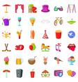 lunapark icons set cartoon style vector image vector image